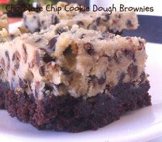 cookie dough brownies (eggless cookie dough!)