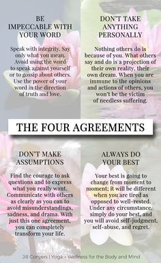 25 INSPIRING QUOTES FROM THE FOUR AGREEMENTS   Have you read The Four Agreements? The #book is a guide of four principles to develop personal freedom and #love, #happiness, and #peace. With these agreements you can change your limiting beliefs. Click through to download the free Four Agreements printables. Pin it now and share it with your friends. #fouragreements #selflove #selfcare #wellbeing #wellness #bestlife #books #donmiguelruiz