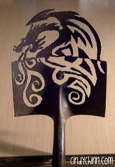 Made To Order- Hand (plasma) Cut Shovel with a Dragon design