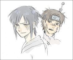 Naruto - Hinata and Tenten - Genderbender <--- can we just talk about the fact that Tenten has a kunai in his head.