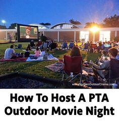 For Wednesday night discussion. How To Host A PTA Outdoor Movie Night Pta School, School Fundraisers, School Events, School Fundraising Ideas, School Ideas, School Counseling, School Projects, School Stuff, Pta Programs