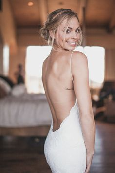 Katie May Backless Wedding Gown: Poipu Gown. Photo courtesy of Sergey Green Photography. www.katiemay.com