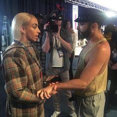 Bilal Hassani & Conchita Wurst Bilal Hassani, Eurovision Songs, Queen, Pop Singers, New Look, Captain Hat, Actors, My Love, Celebrities