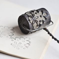"""umla: """" Antique French Roller Stamp by petits détails on Flickr. """""""