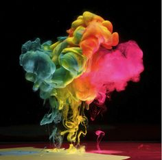 Paint spilled into water - Mark Mawson Photography
