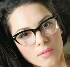 Fashion New Gradient Black & Clear Cat Eye Frame Women's Eyeglasses Clear Lenses