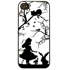 Cover for Iphone 5 5S Alice in Wonderland Pretty fine art silhouette Phone case | eBay