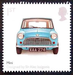 Mini Car -Designed by Sir Alex Issigonis -15536 Framed Postage Stamp Art