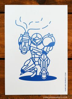 Really cool logo illustration of Samus. I didn't put this in with Logos, because Samus isn't really a logo. Main problem is, I think a different color would be more appropriate to resemble Samus' battle suit. Metroid Samus, Samus Aran, Super Metroid, Nerd, Geek Art, Video Game Art, Cool Logo, Design Art, Pop Art