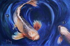 Koi Pond Art - Koi by Donna Tuten