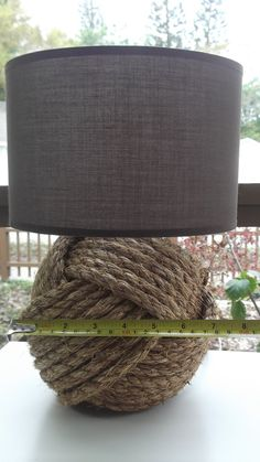 Nautical Decor  One knotty lamp  with  brown by KarensWeddingShop, $70.79
