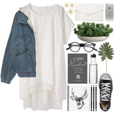 """""""DAY WEAR - LOOKING FOR ALASKA"""" by pretty-basic on Polyvore"""