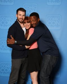 Chris and Anthony with a fan at SLCC