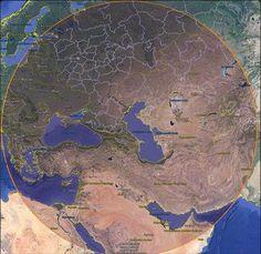 Это радиус действия ракет только Каспийской флотилии РФ. #ВМФ #Сирия #РФ #сша