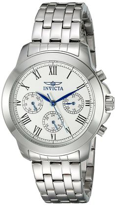Invicta Women's 21653 Specialty Analog Display Swiss Quartz Silver-Tone Watch *** Discover this special product, click the image