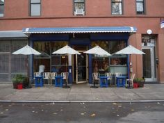 Cafe Gitane - Nolita - New York - The Infatuation Mott Street, Nyc, Food Design, Restaurants, New York, Smile, Spaces, Outdoor Decor, Travel