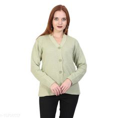 Sweaters BlushhCollection Women Winter Full Sleeve Cardigan (Pack Of 1) Fabric: Wool Sleeve Length: Long Sleeves Multipack: 1 Sizes:  XL (Bust Size: 36 in Length Size: 25 in)  L (Bust Size: 36 in Length Size: 25 in)  M (Bust Size: 36 in Length Size: 25 in) Country of Origin: India Sizes Available: M, L, XL   Catalog Rating: ★4 (541)  Catalog Name: Trendy Glamorous Women Sweaters CatalogID_1967225 C79-SC1026 Code: 792-10708537-