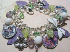 Vintage Faries     Altered Art Charm Bracelet   by Bostoncharm, $32.00