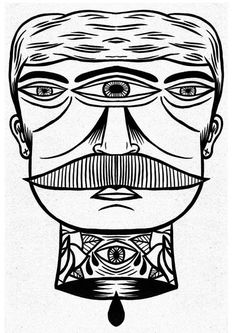Check out some black-and-white illustrations from Manchester-based artist, Jack Boulton. More images below. pic and info: Jack Boulton