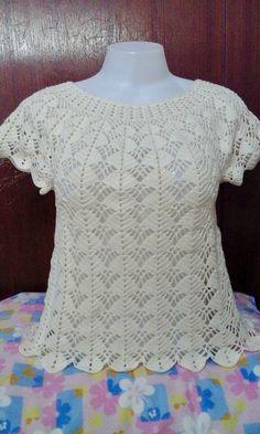 Débardeurs Au Crochet, V Stitch Crochet, Crochet Thread Size 10, Crochet Fabric, Crochet Woman, Crochet Cardigan, Crochet Designs, Crochet Patterns, Crochet Collar Pattern