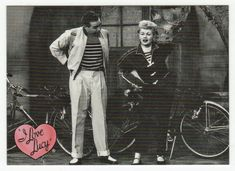I Love Lucy # 63 - Lucy's Bicycle Trip - 50th Anniversary Dart Flipcards - 2001