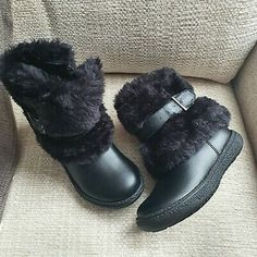 Find many great new & used options and get the best deals for Eram Girls Black Faux Fur Boots Size 7 EU 24 Infant NEW, FAST DISPATCH at the best online prices at eBay! Free delivery for many products! Christams Gifts, Faux Fur Boots, Fur Slides, New Shoes, Fashion Boots, Free Delivery, Black Shoes, Shoe Boots, Infant