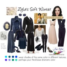 Zyla's Soft Winter by expressingyourtruth on Polyvore featuring Safiyaa, Denim & Supply by Ralph Lauren, French Connection, Alaïa, Paul & Joe Sister, Eileen Fisher, Lanvin, Current/Elliott, Paris Hilton and Gianvito Rossi