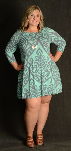 Damask Print - Gray & Light Blue 95% Polyester 5% Spandex Made in the USA Pockets!