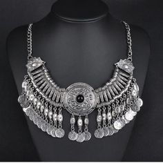 Bohemian necklace High quality statement necklace in silver color. Made from zinc alloy. Brand new. Unknown Jewelry Necklaces