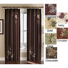 @Overstock - Alesandra Floral Accent Window Curtain Panel  http://www.overstock.com/Home-Garden/Alesandra-Floral-Accent-Window-Curtain-Panel/3840060/product.html?CID=214117 $20.99