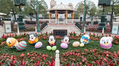 Hong Kong Disneyland park is filled with more than 100 eggs during its first Spring Time Egg-stravaganza. Guests can scramble throughout the seven lands in the Disney Character Egg Hunt, looking for eggs featuring Mickey and Friends, Joy, Sadness,