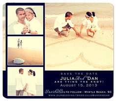 Photo Collage Save the Date Magnets