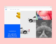 Design for the Make portfolio and company site. The homepage has a three column slot-machine-like scrolling action with items that link to various posts, portfolio items, tweets,... The slots form a full screen image after a certain amount of scrolling,…