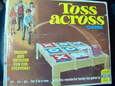 1970 Toss Across Game Bean Bag x and O Game from Ideal  Played this at The Goetz's house with my cousins.