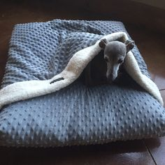 CuddleDots P'Iglet Pouch- Made to Order Burrowing Dog Bed with built in Blanket