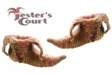 Jesters Court Slipper Boots Knitting Pattern/ instructions to make knitwitzuk Knight Party, Knitted Slippers, Slipper Boots, Knitting Socks, Knitting Patterns, Knit Crochet, Diy Crafts, Crafty, Sewing