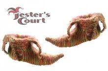 Jester Slipper Socks Knitting Pattern