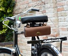 Fahrradtasche Lenkertasche Leder klein Fahrrad Satteltasche braun
