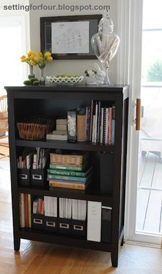 My Bookcase Family Organizer - this idea has really helped my family of 4 stay organized!