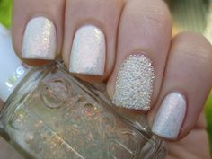 2 coats Essie Shine of the Times on top of 3 coats of Essie Marshmallow