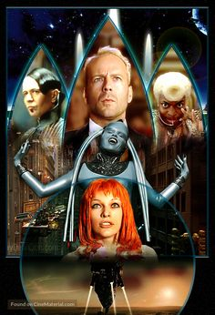 High resolution French key art image for The Fifth Element The image measures 1794 * 2635 pixels and is 3055 kilobytes large. Leeloo Fifth Element, The Fifth Element Movie, Epic Movie, Love Movie, Tim Burton, Films Western, Cyberpunk, Westerns, Halloween Series