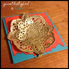 Bollywood Moroccan Party Invitations Gold Doily Fancy www.givethatgirlacola.com