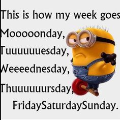 Beautiful How My Week Goes Funny Quotes Quote Crazy Funny Quote Funny Quotes Funny  Sayings Days Of The Week Humor Minions Minion Quotes