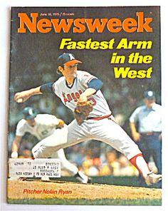 Newsweek Magazine June 16, 1975 Nolan Ryan