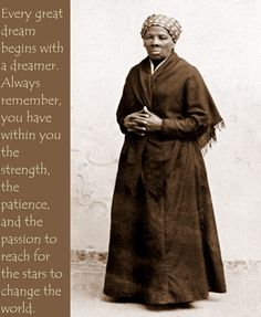 Harriet Tubman was a former slave who escaped and helped other slaves achieve freedom through the Underground Railroad.