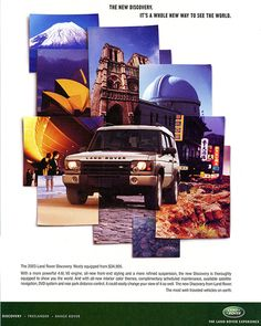 images of world car ads | 2003 land rover discovery ad 2003 land rover discovery ad
