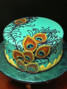 Peacock Feathers on Cake Central