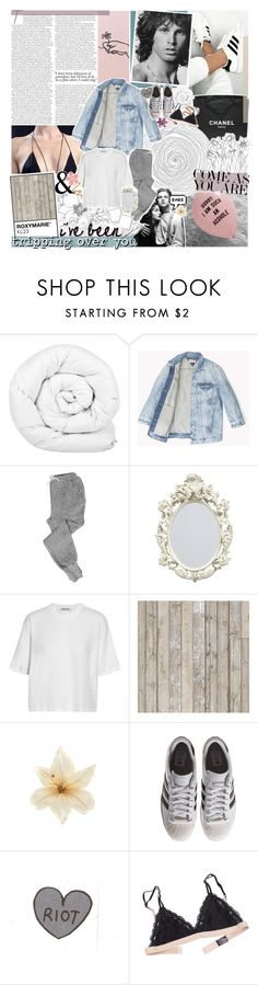 """stay with me or cut me free"" by roxymarie ❤ liked on Polyvore featuring Libertine, Haider Ackermann, Chanel, Brinkhaus, V::ROOM, T By Alexander Wang, NLXL, Clips and adidas Originals"