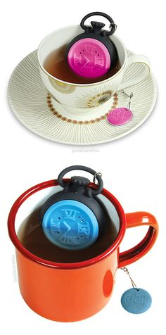 Pocket watch tea infuser - it's time for tea! #product_design