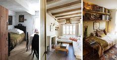 Piękne wnętrza małych pokoi w stylu rustykalnym